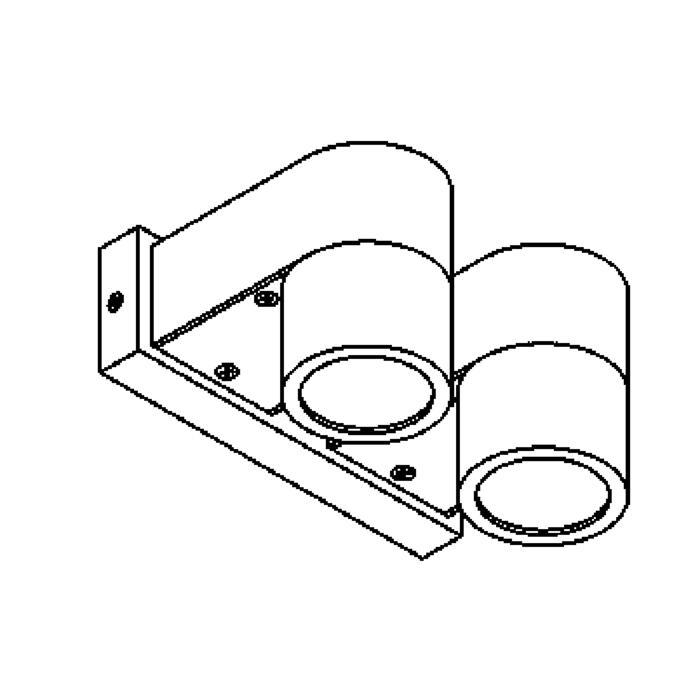 Drawing of W1099.DOWN/.. - BOLERO, opbouw wandlicht - down