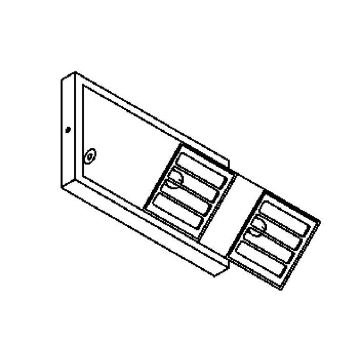 Drawing of W1204.ES50/.. - SPIKKIO, opbouw wandlicht