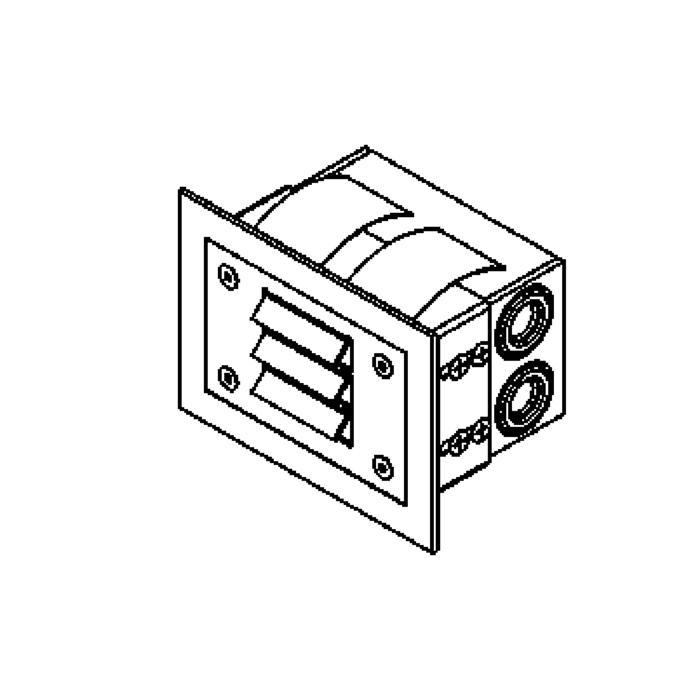 Drawing of W1211/.. - STONE, inbouw wandlicht
