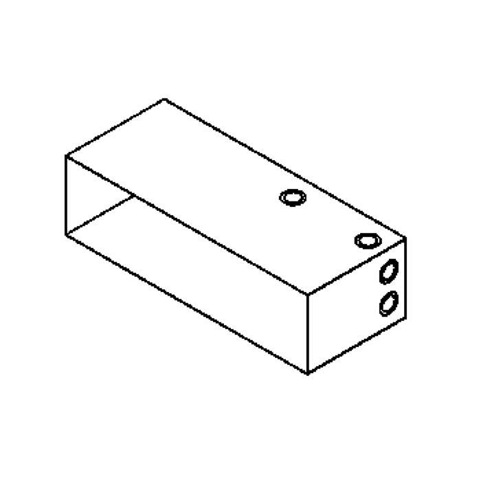 Drawing of W1217B/.. - STONE box, inbouwdoos - voor W1216 & W1215