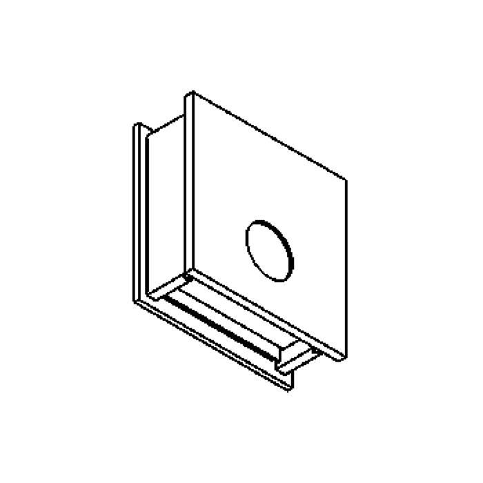 Drawing of W1250/.. - OUTSIDER, opbouw wandlicht - down - zonder transfo