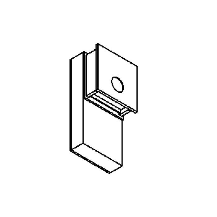 Drawing of W1251/.. - OUTSIDER, opbouw huisnummerwandlicht  - down - met transfo