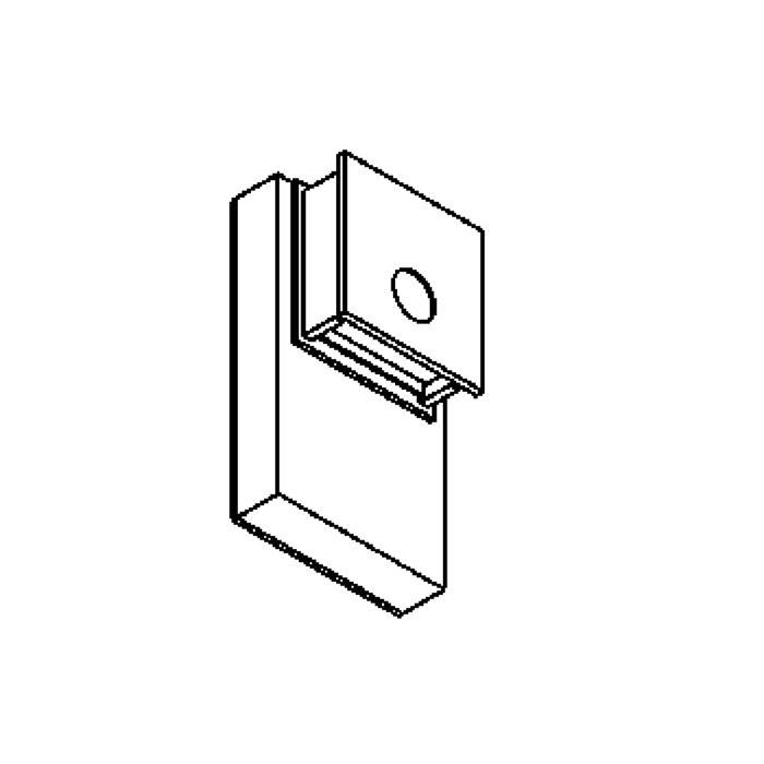 Drawing of W1252/.. - OUTSIDER, opbouw huisnummerwandlicht  - down - met transfo