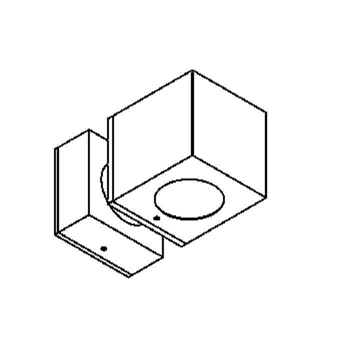 Drawing of W1292C/.. - BOB, opbouw wandlicht - vast - down/up
