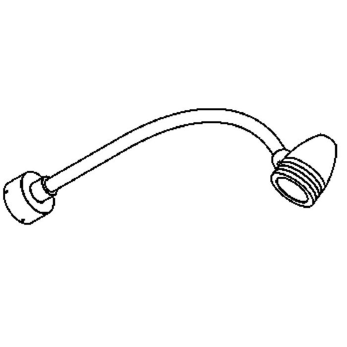 Drawing of W1305/.. - CUBA, opbouw wandlicht - down - met glas - zonder transfo