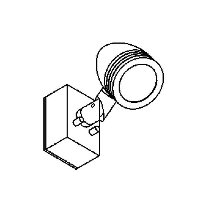 Drawing of W1309/.. - CUBA, opbouw wandlicht - richtbaar - down - met glas - met transfo