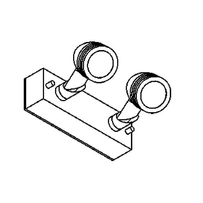 Drawing of W1311/.. - CUBA, opbouw wandlicht - richtbaar - down - met glas - met transfo