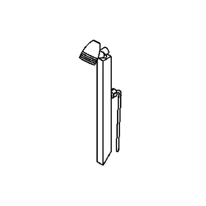 Drawing of W1313/.. - CUBA, tuinpaal met grondpin - richtbaar - met glas - met transfo