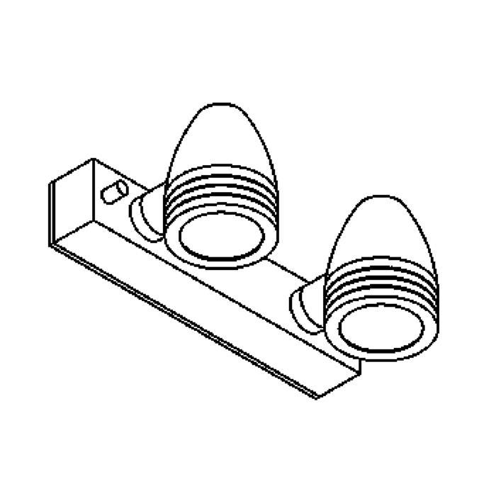 Drawing of W1317.220/.. - CUBA, opbouw wandlicht - vast - down - met glas