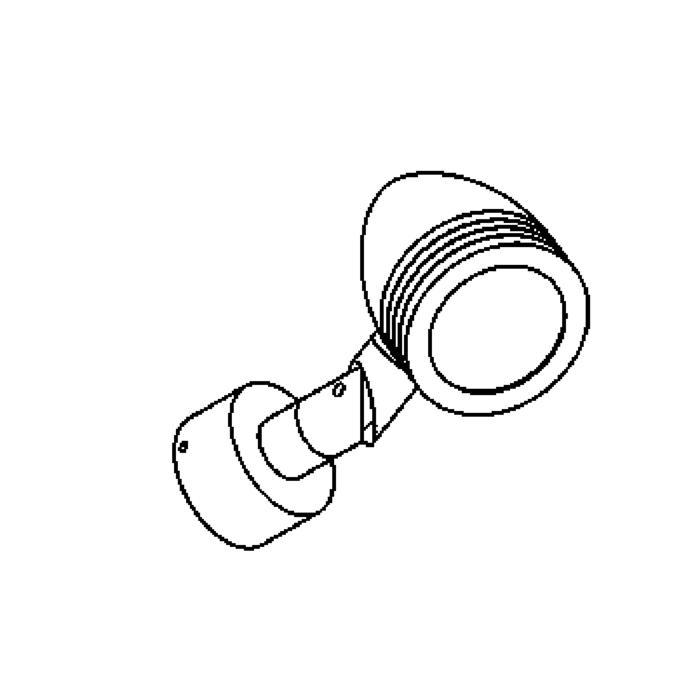 Drawing of W1320.220/.. - CUBA, opbouw wandlicht - richtbaar - down - met glas