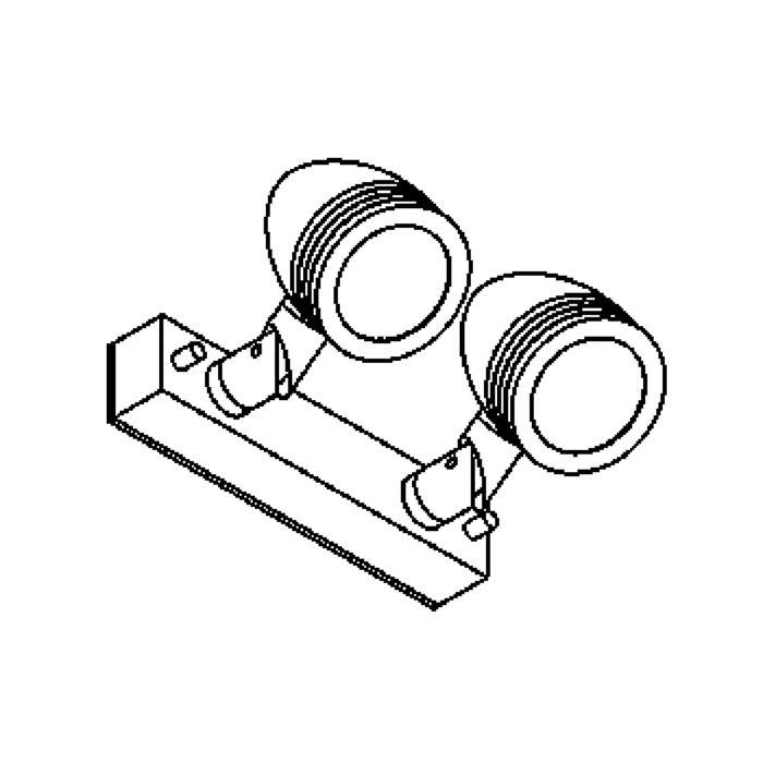 Drawing of W1322.220/.. - CUBA, opbouw wandlicht - richtbaar - down - met glas