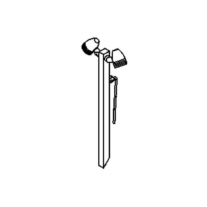 Drawing of W1324/.. - CUBA, tuinpaal met grondpin - richtbaar - met glas - met transfo