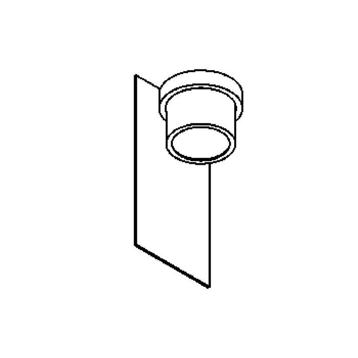 Drawing of W1341/.. - BISTRO, opbouw huisnummerwandlicht  - down - inox frontplaat