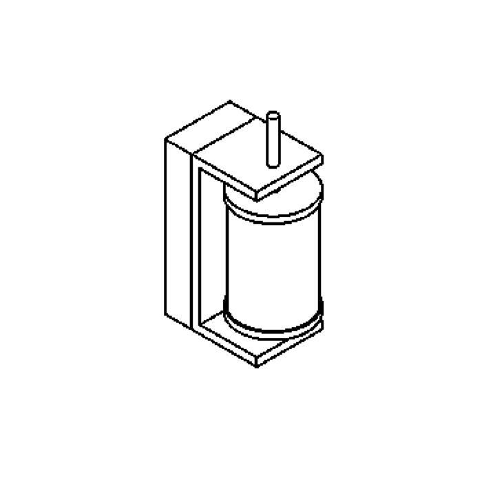 Drawing of W301/.. - OLYMPIA, opbouw wandlicht - met glas