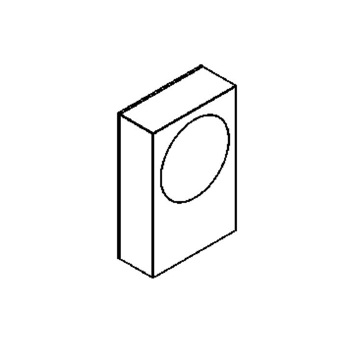 Drawing of W306.R/.. - TOLEDO, opbouw wandlicht