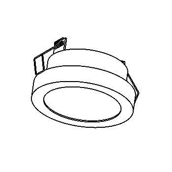 Drawing of W3068/.. - TOLEDO Ø84, inbouwspot - rond - vast