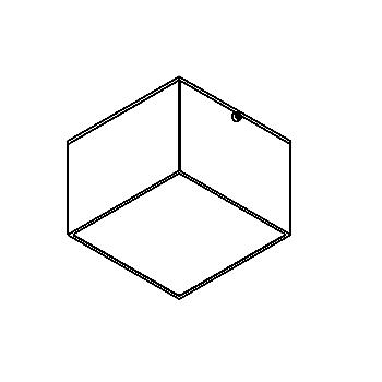 Drawing of W3079/.. - TOLEDO, built-up ceiling or wall light - square - fixed