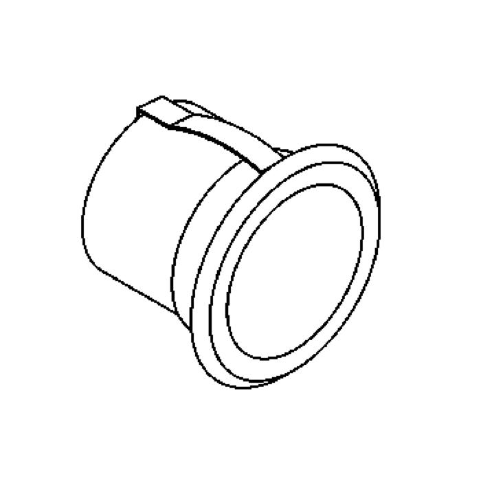 Drawing of W3083.40/.. - SCOTT, inbouw wand-, plafond- of vloerlicht - rond - vast - up or down - inox 316 - zonder LED driver