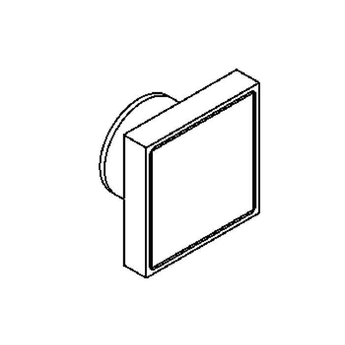 Drawing of W3106/.. - TUCAN, inbouw wandlicht - glasdikte 5mm - zonder LED driver
