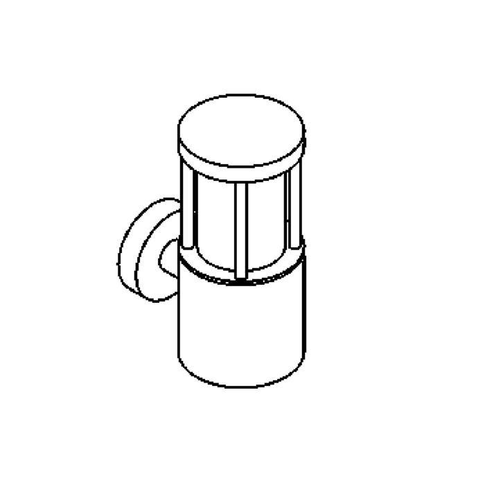 Drawing of W500/.. - CONSUL, opbouw wandlicht
