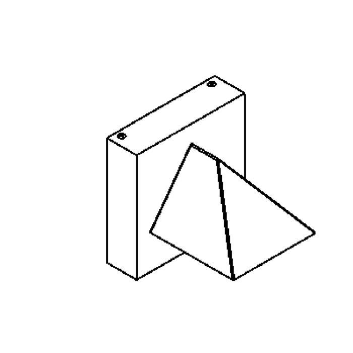 Drawing of W601/.. - HEMERA, opbouw wandlicht - down - met transfo
