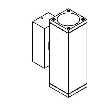 Drawing of W707/.. - MAURO, opbouw wandlicht - down/up - met transfo