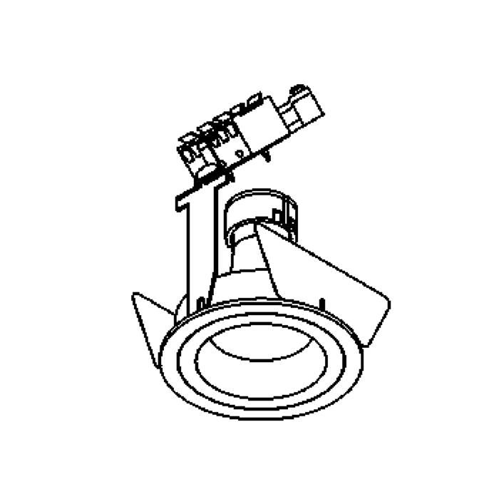Drawing of YOKO.ES50/.. - Ø70, inbouwspot - rond - vast