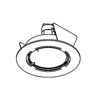 Drawing of ZIA50GR/.. - Ø63, inbouwspot voor verandaprofielen - rond - dubbelwandig - zonder transfo