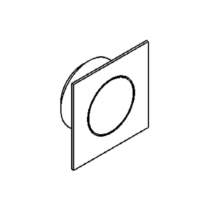 Drawing of ZIAMINI.C.LED/.. - Ø29, inbouw plafond- en wandlicht - vierkant - zonder LED driver