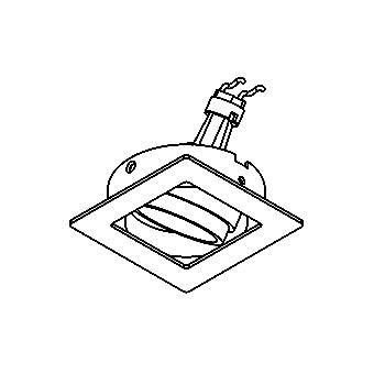 Drawing of CASANKA.DICRO/.. - SCS SYSTEM, Einbaukassette - viereckig - schwenkbar - ohne Trafo