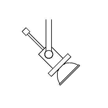 Drawing of 6110/.. - DOMINO 12V, opbouwspot M10 - vierkant - richtbaar - zonder transfo