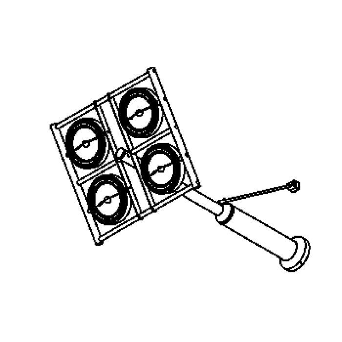 Drawing of 4010/.. - OPERA, opbouw wandlicht - richtbaar - met transfo
