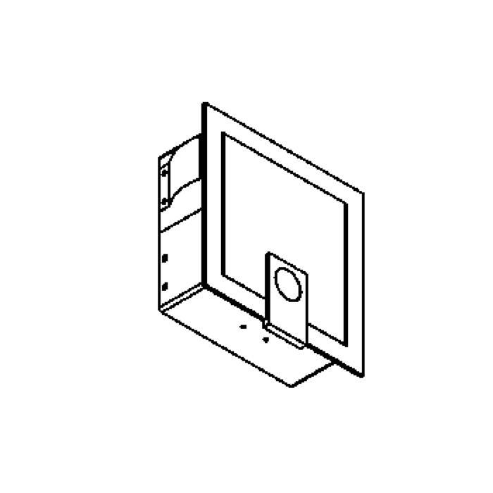 Drawing of 1296W/.. - MEZZO, inbouw wandlicht - met opaal wit glas