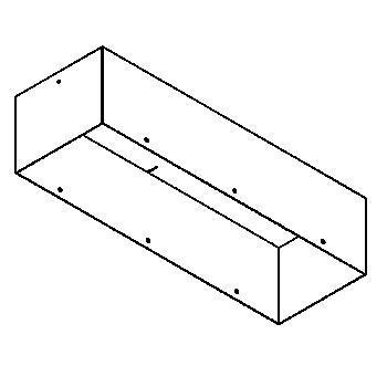 Drawing of BOX3F/.. - BETA SYSTEM, toebehoren - vierkant - ingietbox voor 3 modules