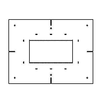Drawing of MATRIXBOX2F/.. - BETA SYSTEM, toebehoren - vierkant - sjabloon voor ingietbox 2F