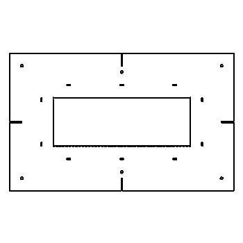 Drawing of MATRIXBOX3F/.. - BETA SYSTEM, toebehoren - vierkant - sjabloon voor ingietbox 3F