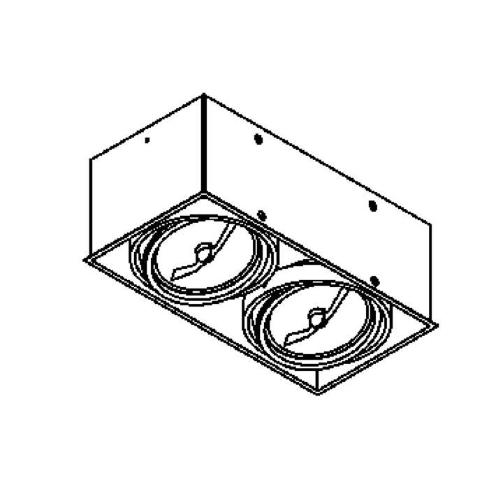 Drawing of 1852/.. - SPINNER X, inbouw plafondverlichting - vierkant - richtbaar - zonder transfo