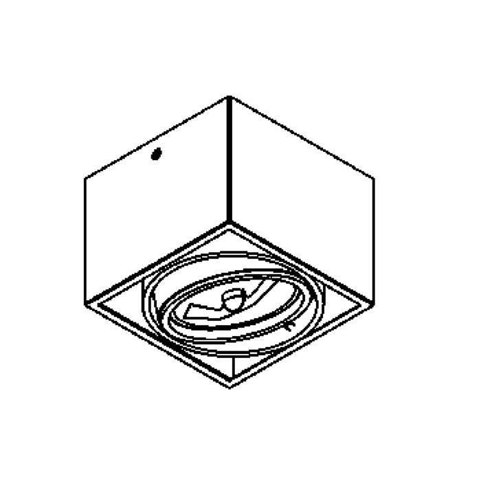 Drawing of 1861/.. - SPINNER X, opbouw plafondverlichting - richtbaar - down - met transfo