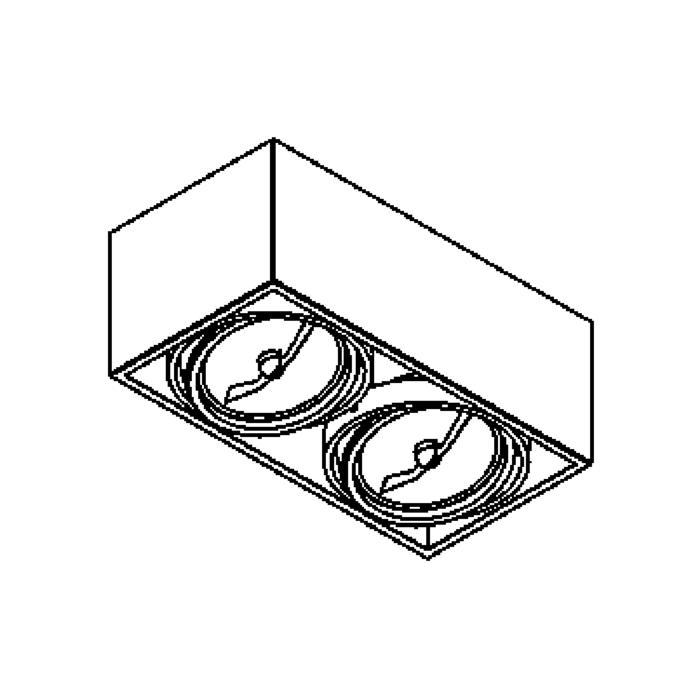 Drawing of 1862/.. - SPINNER X, opbouw plafondverlichting - richtbaar - down - met transfo