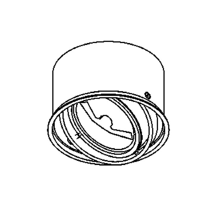 Drawing of 1477/.. - INCA X, downlight - round - directional - without transformer