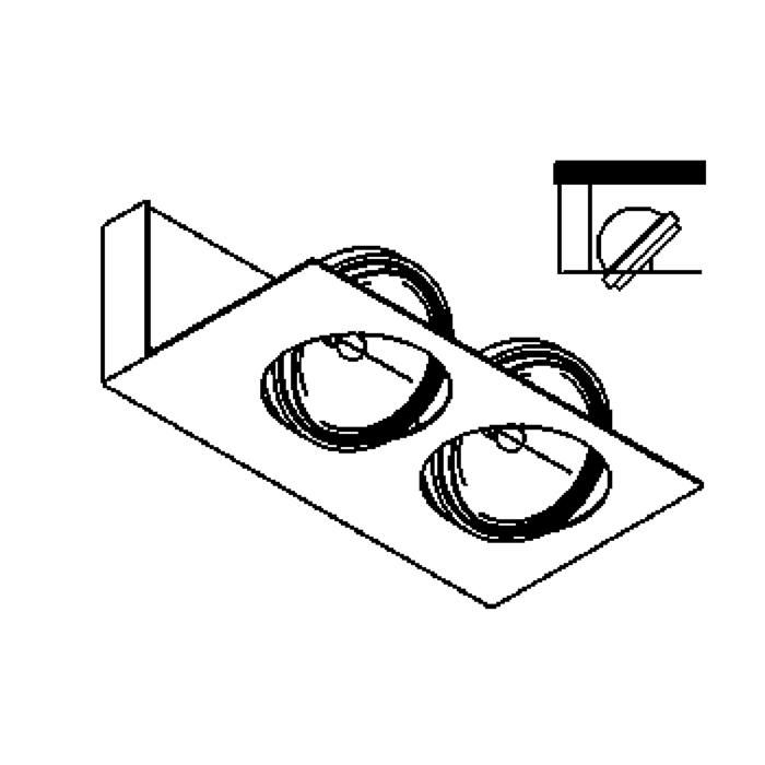 Drawing of 1800/.. - BRIDGE PLAFOND, opbouw plafondverlichting - richtbaar - met transfo