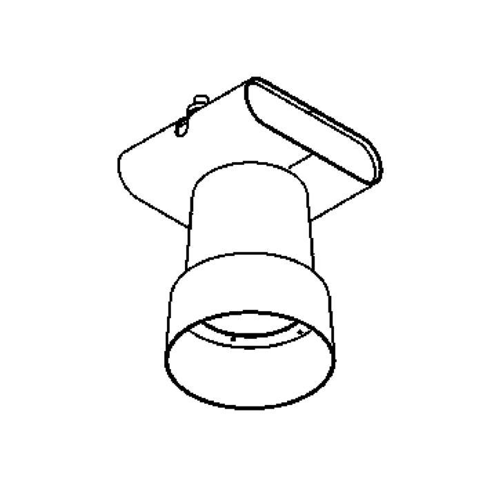 Drawing of 1951/.. - FLASH, Deckenleuchte für Schienensystem - rund - ohne Adapter - mit elektronischem Vorschaltgerät