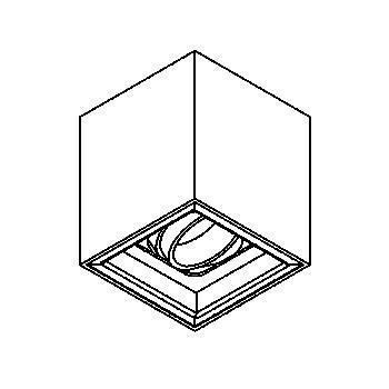 Drawing of 1705.ES50/.. - BETAPLUS, opbouw plafondverlichting - richtbaar - down