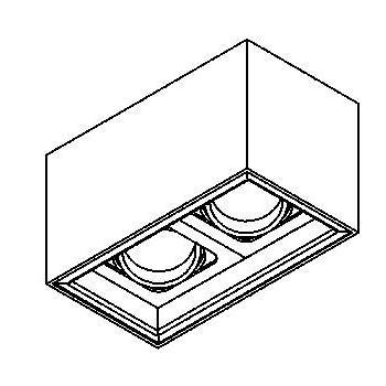 Drawing of 1706.ES50/.. - BETAPLUS, opbouw plafondverlichting - richtbaar - down