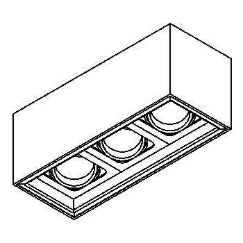Drawing of 1707.ES50/.. - BETAPLUS, opbouw plafondverlichting - richtbaar - down