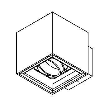 Drawing of 1751.ES50/.. - BETAPLUS, opbouw wandlicht - vierkant - richtbaar - down