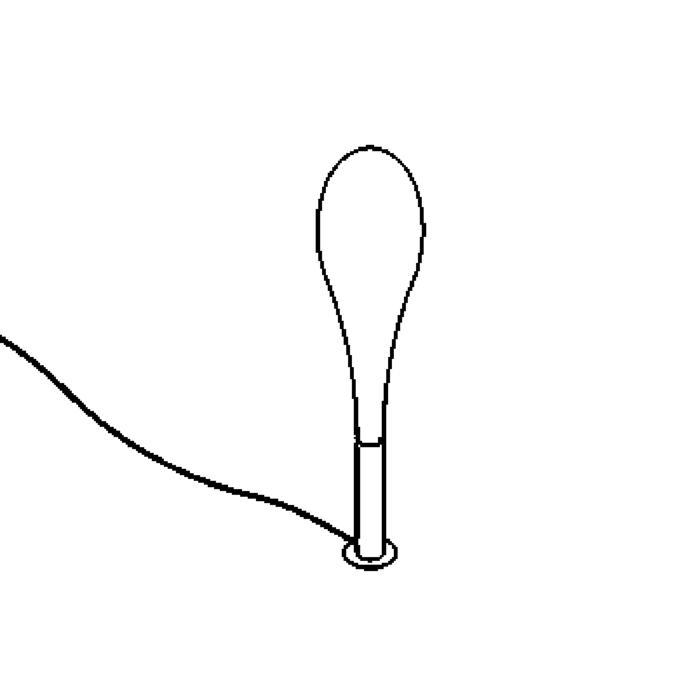 Drawing of 1832/.. - GOTA, staanlamp - met schakelaar - snoer en stekker - met electronische ballast