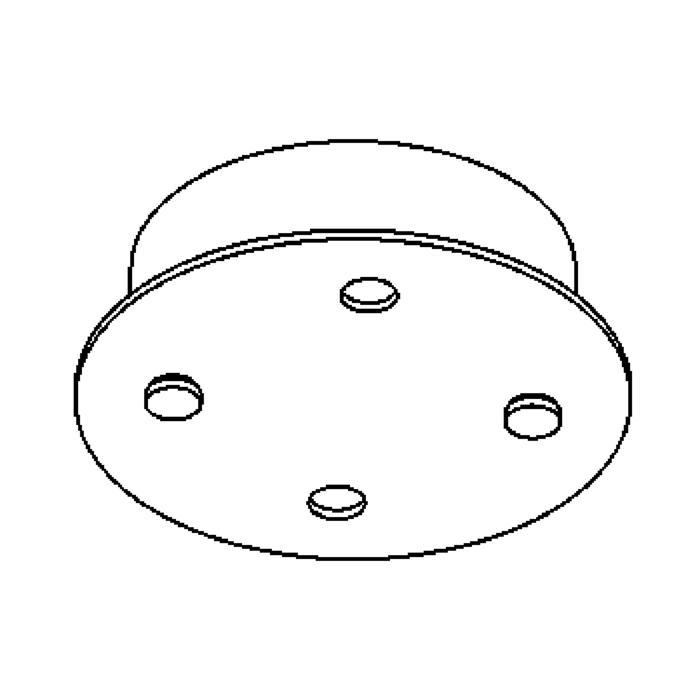 Drawing of 924B/.. - RONDO BOX, plafondverlichting - spots afzonderlijk te bestellen