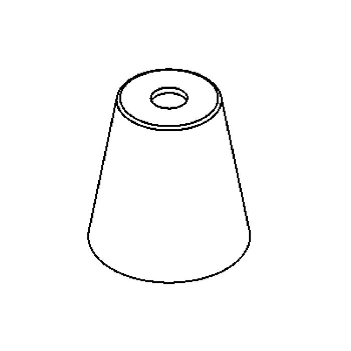 Drawing of GL8285BC/.. - GLASS G4-G9, glas - Bean Coffee