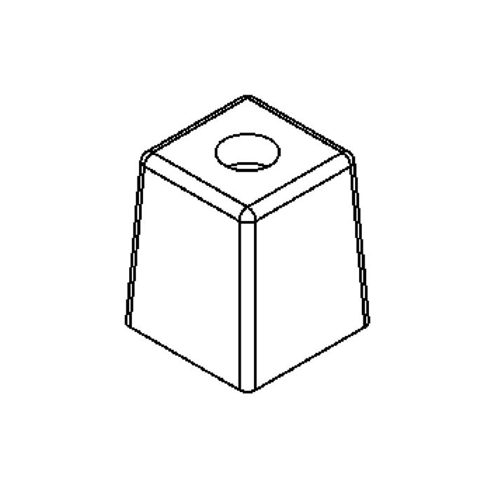 Drawing of GL2592SS/.. - GLASS G4, Glas - Klar auf der Außenseite- Weiß Opal auf der Innenseite